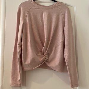 Lululemon light pink cropped sweater